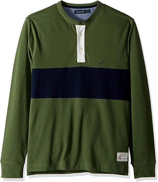 Nautica Hombre K83104 Manga Larga Camisa Polo - Verde - XX-Large ...