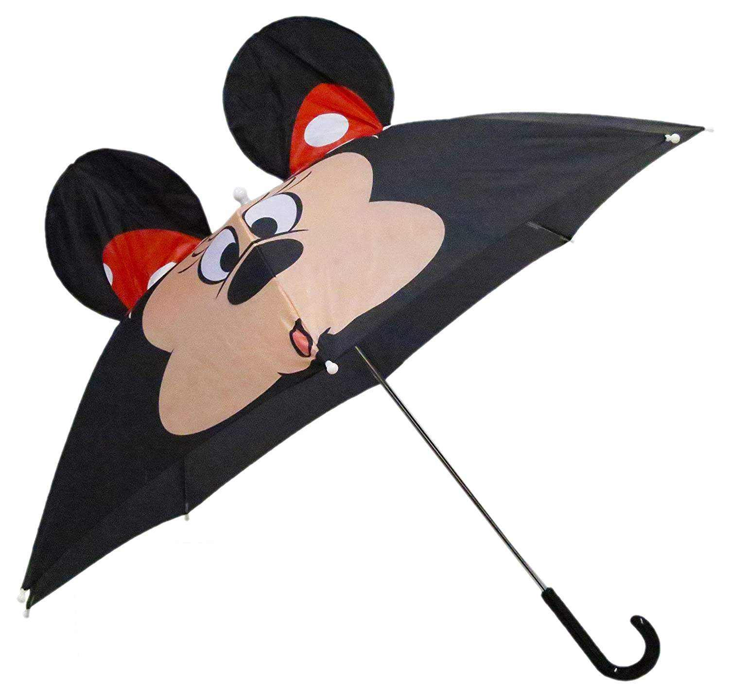 Disney Minnie Mouse Adult Pop Out Umbrella J Handle - One Size