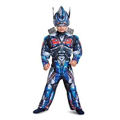 Disguise Optimus Prime Movie Toddler Muscle Costume, Blue, Small (2T): Toys & Games