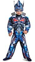 Disguise Optimus Prime Movie Toddler Muscle Costume, Blue, Medium (3T-4T)