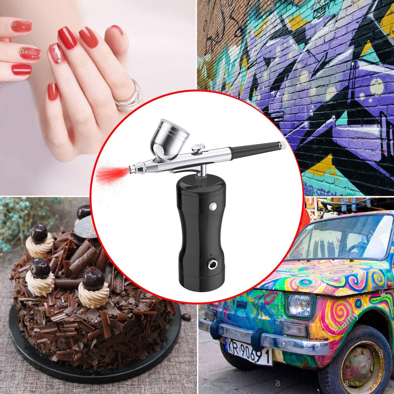 YLINGSU Cordless Automatic Airbrush Kit, Portable Hand-held Airbrush Gun Kit for Makeup, Cake Decoration, Model Coloring, Manicure, Tattoo, Art Drawing: Arts, Crafts & Sewing