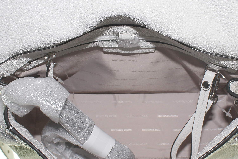Michael kors kleine handtasche bristol optic white damen