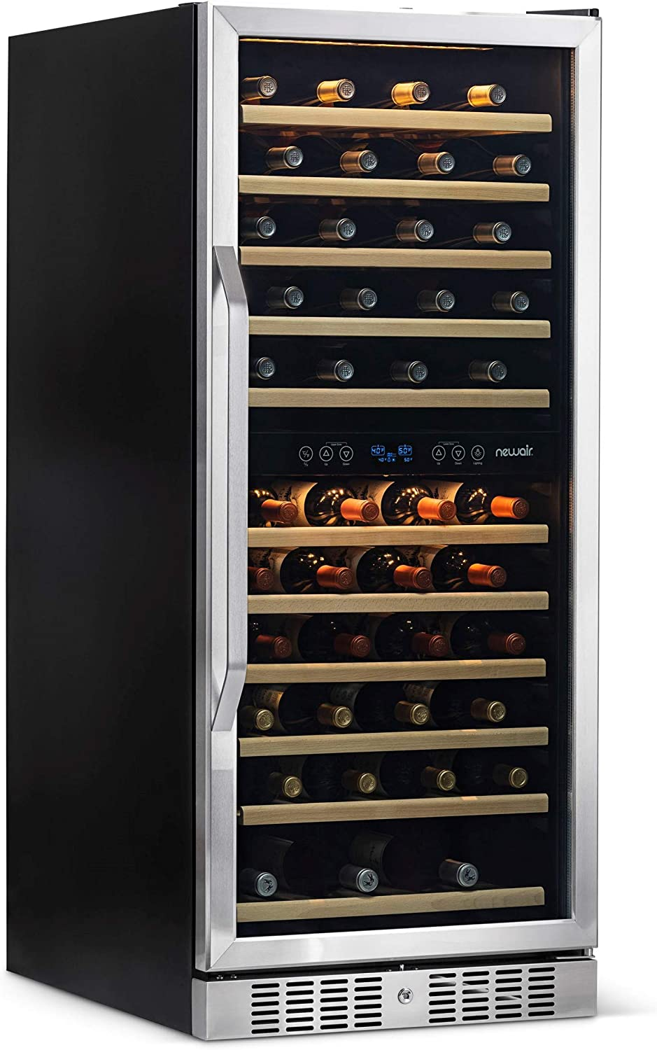 NewAir AWR-1160DB Wine Cooler, 116 Bottle, Stainless Steel Black