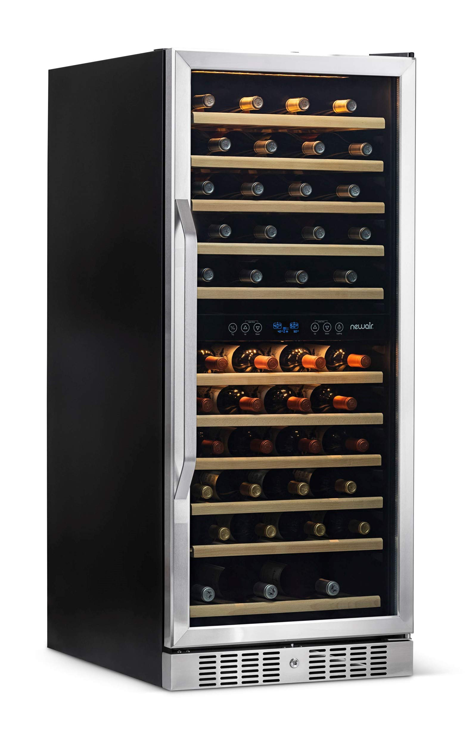 NewAir AWR-1160DB Wine Cooler, 116 Bottle, Stainless Steel/Black by NewAir