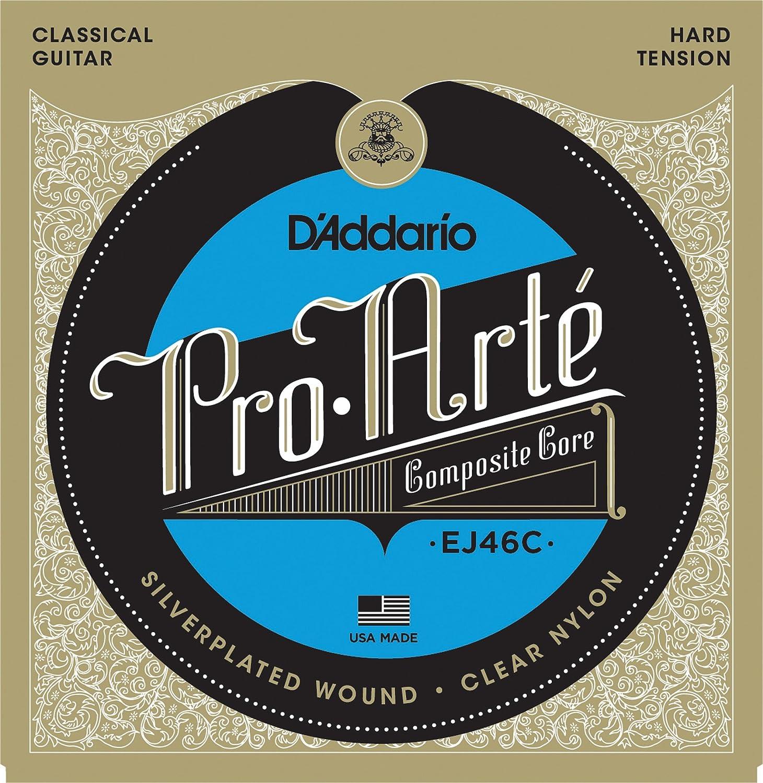 D'Addario EJ46C Pro-Arte Composite Classical Guitar Strings, Hard Tension D'Addario &Co. Inc