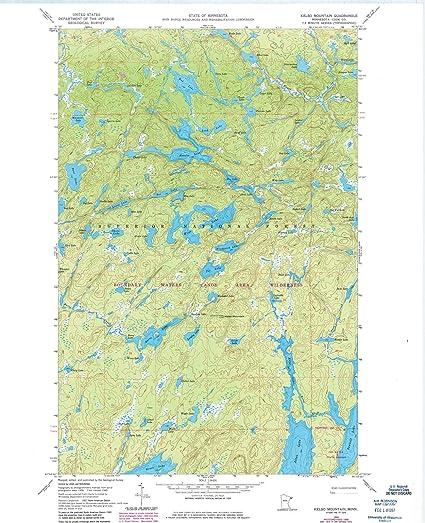 Topographic Map Mountain.Amazon Com Minnesota Maps 1960 Kelso Mountain Mn Usgs Historical