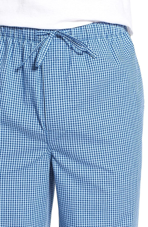 Mens Blue Check Lounge Pajama Sleep Pants Large