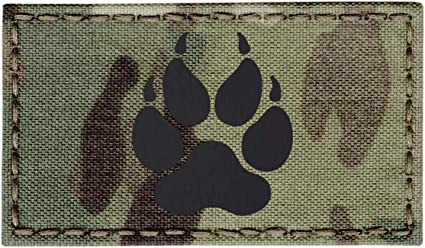 OD Green USA American Flag K-9 Police Dog Handler Morale Tactical Embroidery Touch Fastener Patch