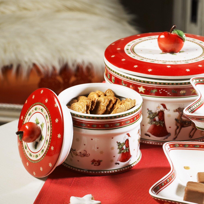 Villeroy & Boch Winter Bakery Delight Caja pequeña para pastas, Porcelana Premium, Blanco/Rojo: Amazon.es: Hogar