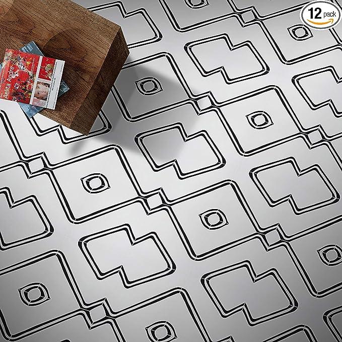 Moroccan Mosaic Tile House Ctp68 01 Chawen Handmade Cement Tile 8 X8 Black White Amazon Com