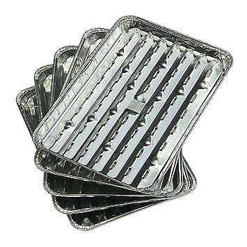 Campingaz Aluminium Grillschalen - Bandeja desechable de aluminio para barbacoas, 35 x 22 x 1,8 cm: Amazon.es: Deportes y aire libre