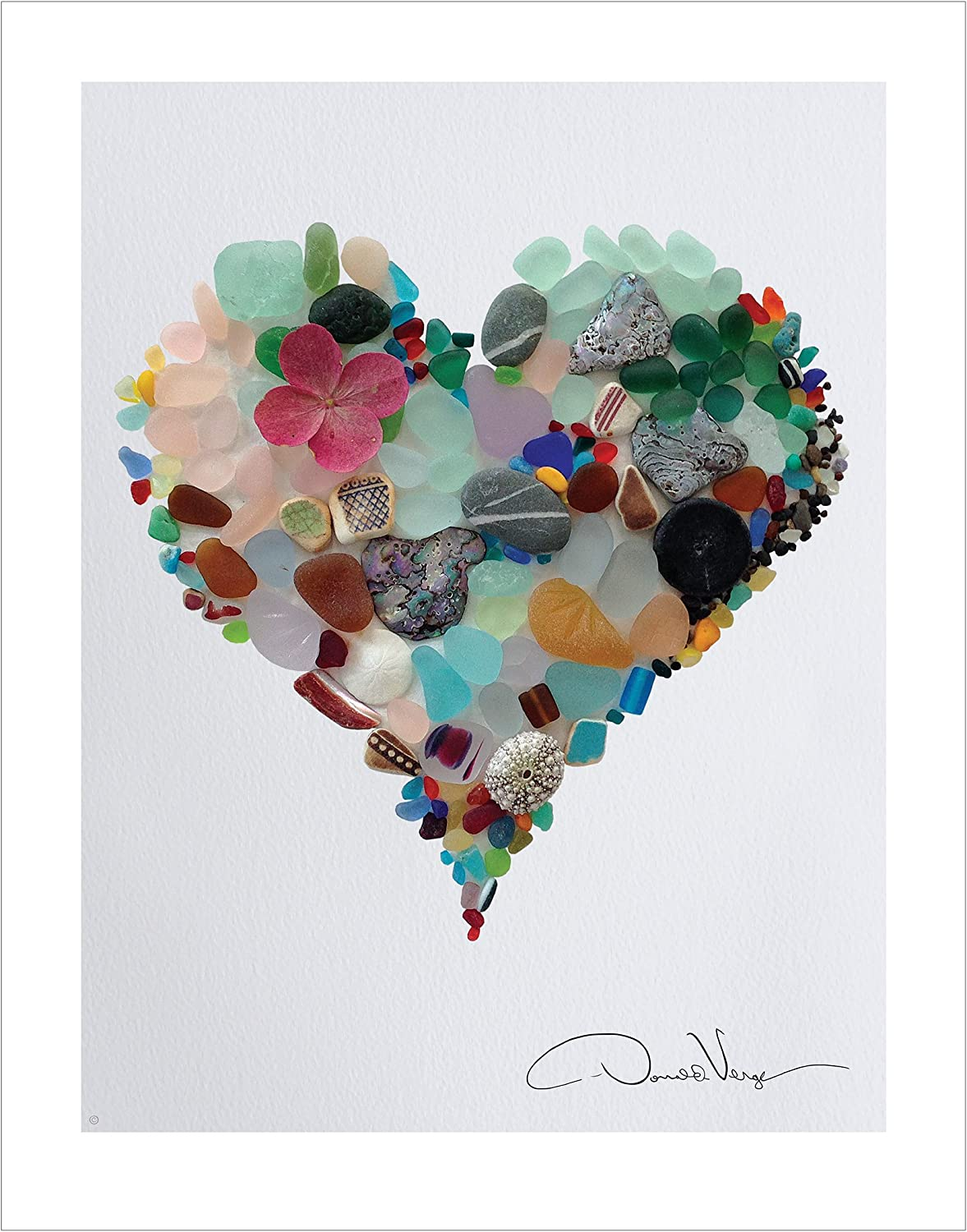 Decor Graphic Design movie Poster.CALOR.Rainbow Heat.Colorful Heart Love art