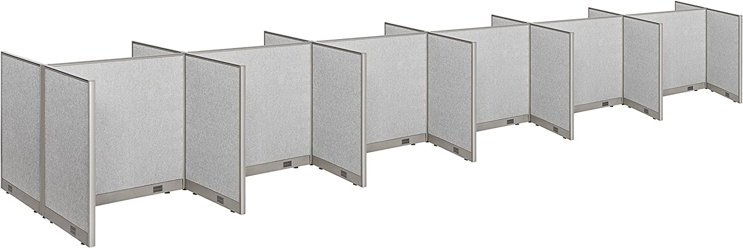"""GOF Cubicle Double 12 Station Office Partition, Large Fabric Room Divider Panel Workstation, 30""""D x 48""""W x 48""""H"""