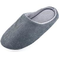 Knixmax Zapatillas de Estar por Casa para Hombre Mujer, Zapatos Memory Algodón Pantuflas, Zapatillas Cómodas Suave…