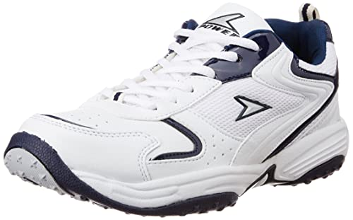 C 312 White Canvas Running Shoes