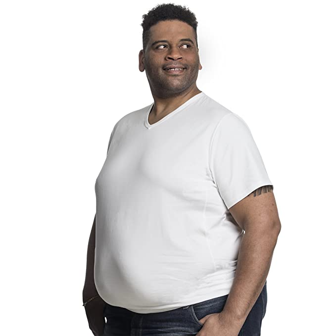 Camiseta 7XL clásica cuello en V (2 T-Shirt) para hombre, Alca