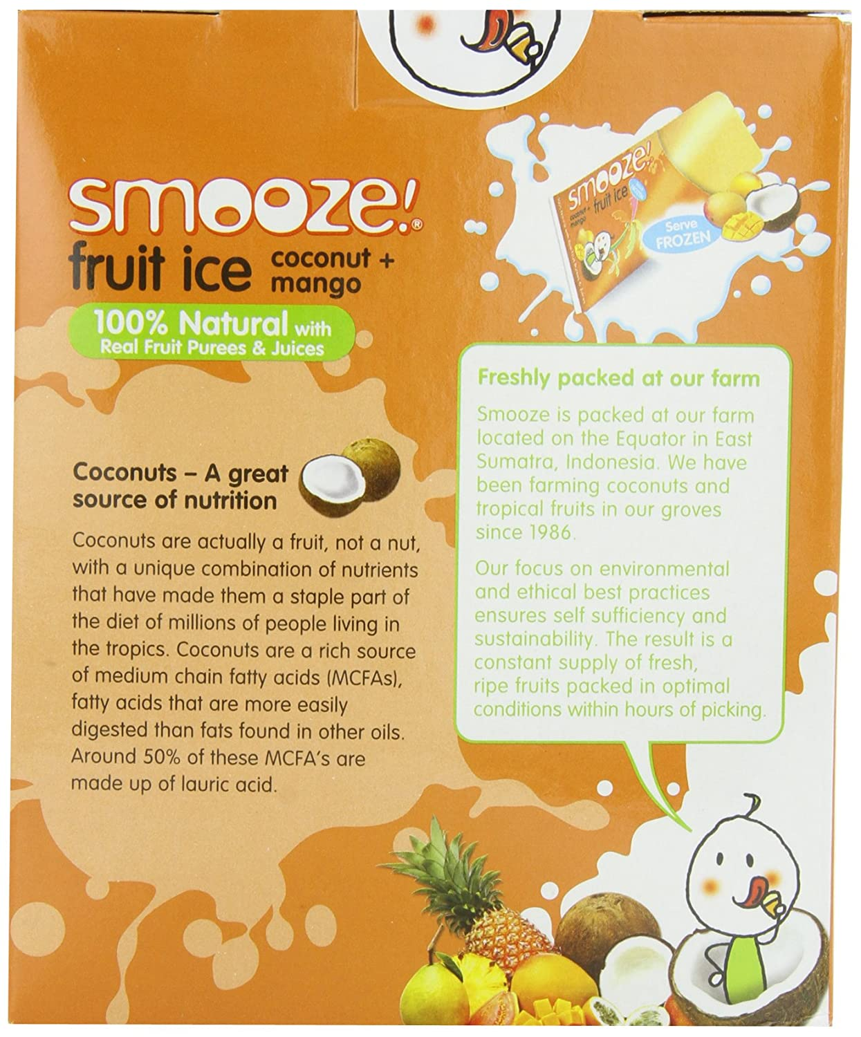 Amazon Com Smooze All Natural Fruit Ice Coconut Mango 17 6