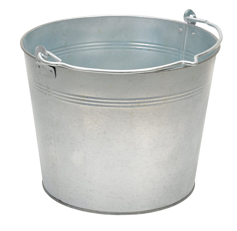 Vestil BKT-GAL-325 Galvanized Steel Bucket, 9-13/16