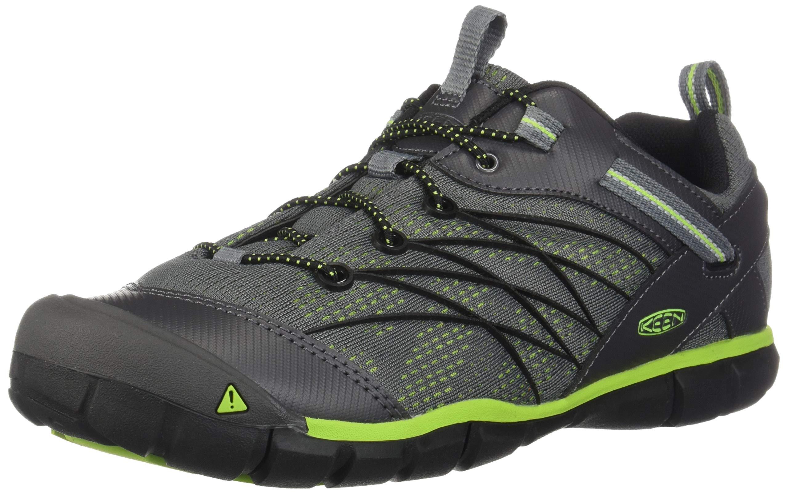 KEEN Chandler CNX Hiking Shoe - Boys' Magnet/Greenery, 7.0