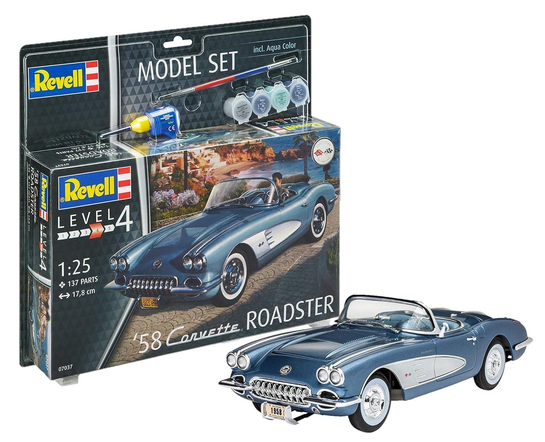 ++ Revell 67037 Model Set /'58 Corvette Roadster 1:25 67037 07037