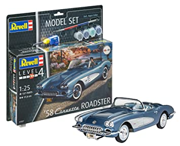 Revell Model Set - Corvette Roadster 1958 Coche maqueta ...