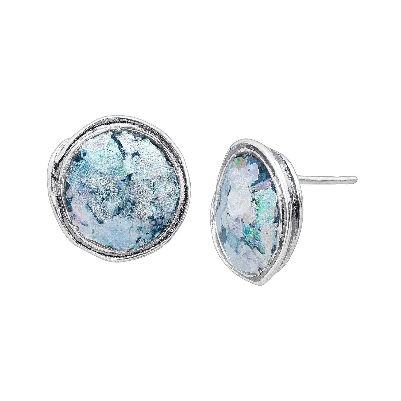 4bbeb4ff8 Amazon.com: Silpada 'Bonna' Roman Glass Stud Earrings in Sterling Silver:  Jewelry