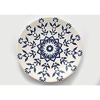 Keramika Servis Tabağı, Mavi, Standart, 1 Parça