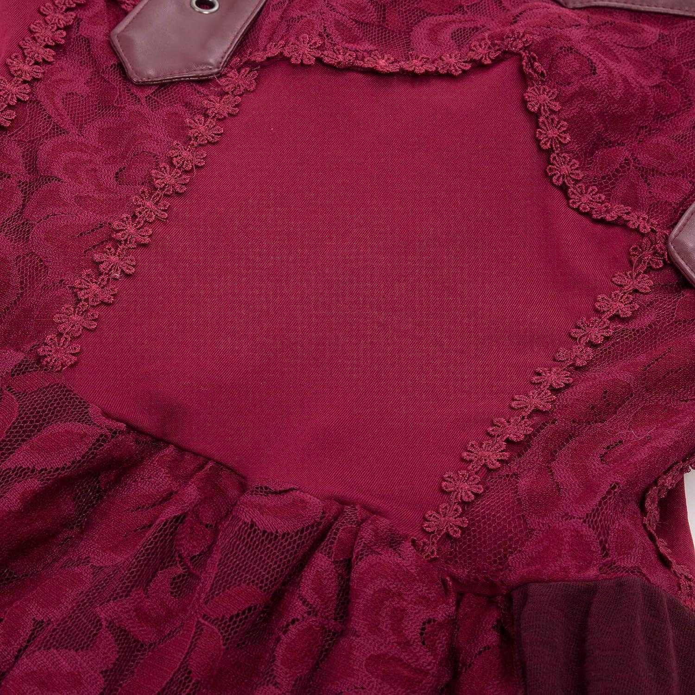 Belle Poque Retro Vintage Steampunk Vittoriano Bohemian Lace Irregolare Posteriore Lace Lace Hem Hem