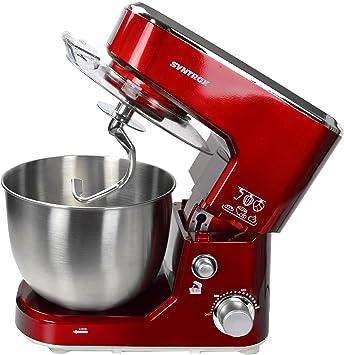 Syntrox Germany KM de 1000 W Robot de cocina eléctrica batidora para amasar, recipiente de acero inoxidable, 5 L), color rojo: Amazon.es: Hogar