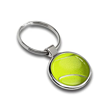 Llavero Deportes de pelota de tenis metal Keyring Llave de ...