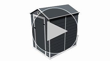 GARDIUN KSP38110 - Caseta de Resina Marena - 2, 47 m² Exterior ...