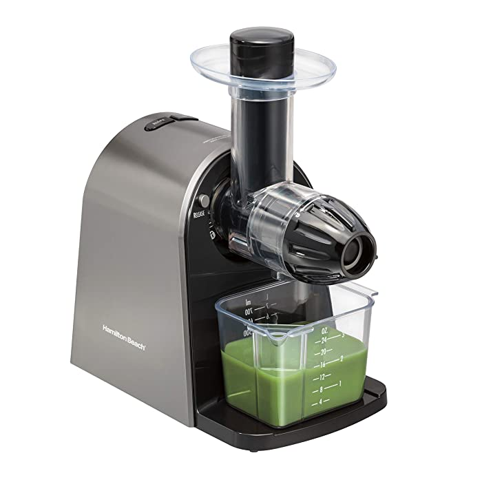 Hamilton Beach (67951) Masticating Juicer Slow Action, Electric, For Fruits & Vegetables Standard Silver