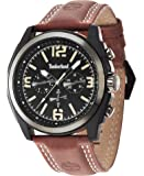 Timberland - 14366JSBU/02 - Montre Homme - Quartz - Chronographe - Bracelet Cuir marron