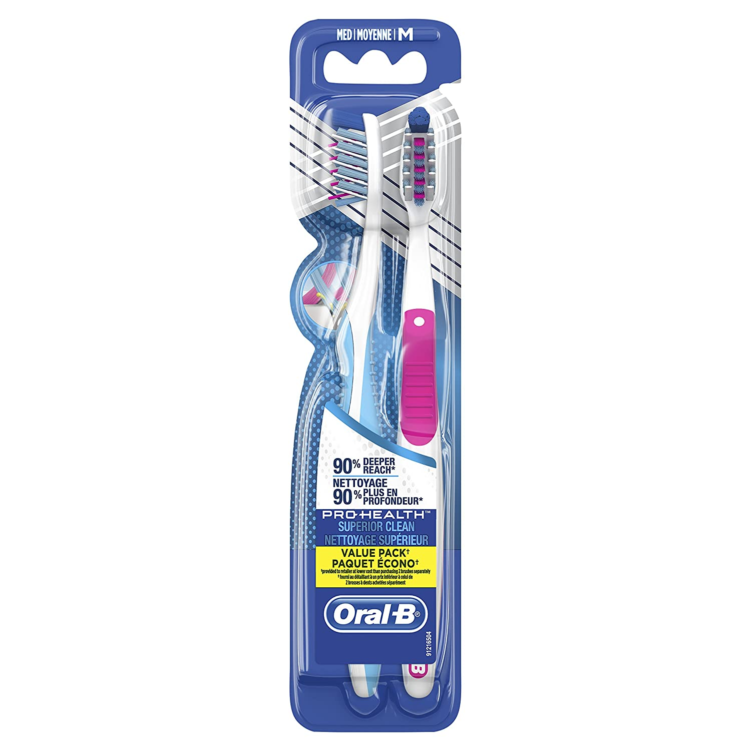 Oral-B Pro-Health Superior Clean Manual Toothbrush, 2 Count, 40 Med Procter and Gamble