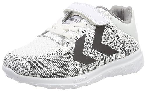 e264e866984 Hummel Unisex Kids' ACTUS Knit JR Fitness Shoes, (White 9001), 9 UK ...