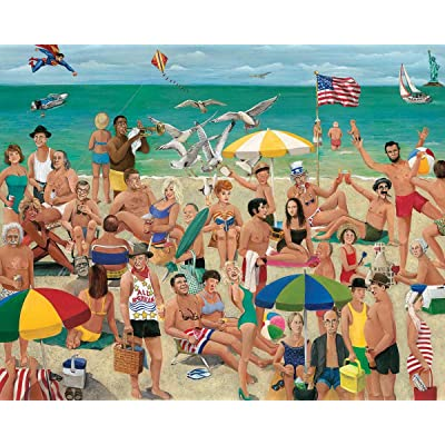 White Mountain Puzzles What A Beach - 1000 Piece Jigsaw Puzzle: Toys & Games