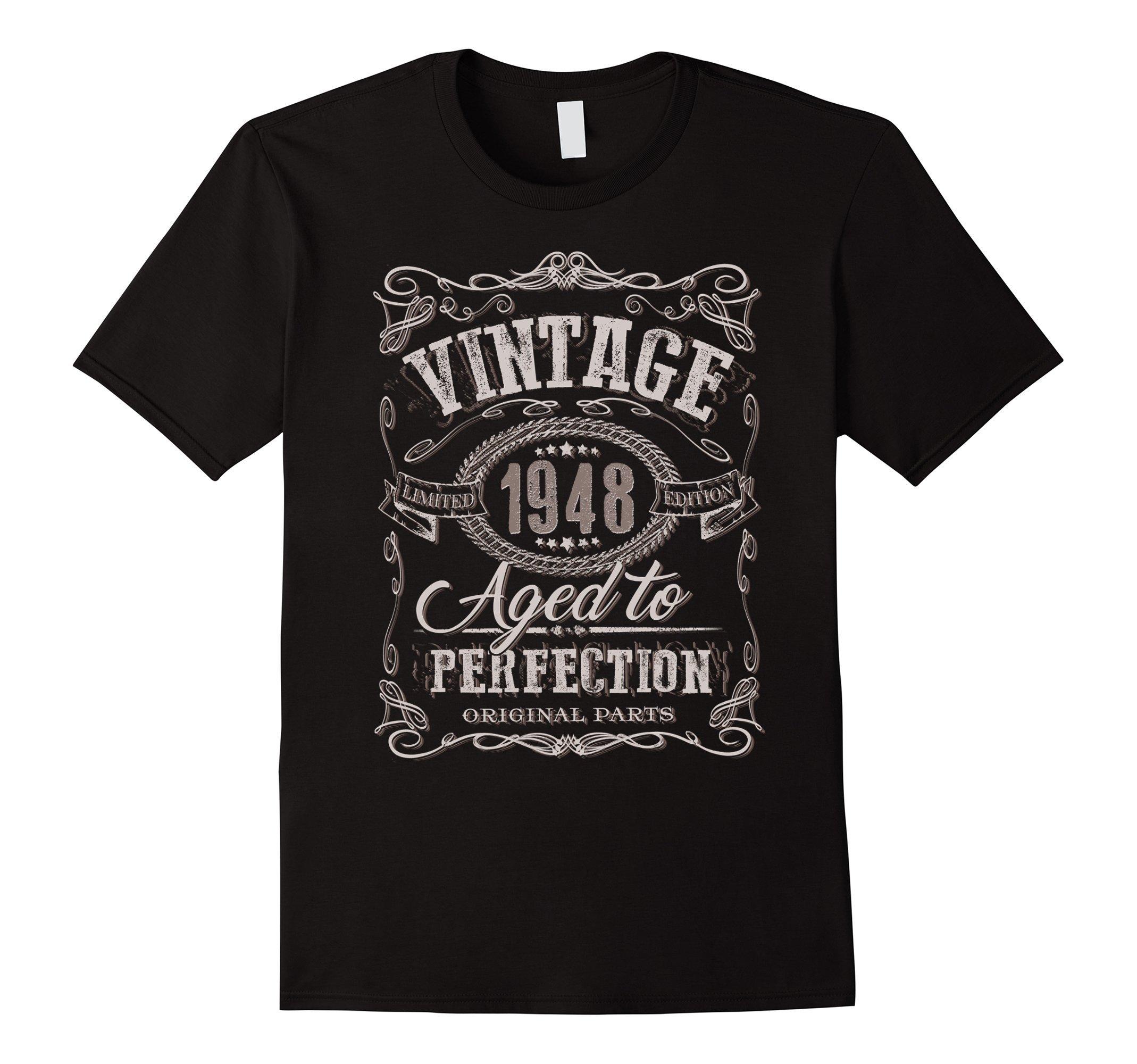 70th Birthday gift shirt Vintage dude 1948 70 year old shirt