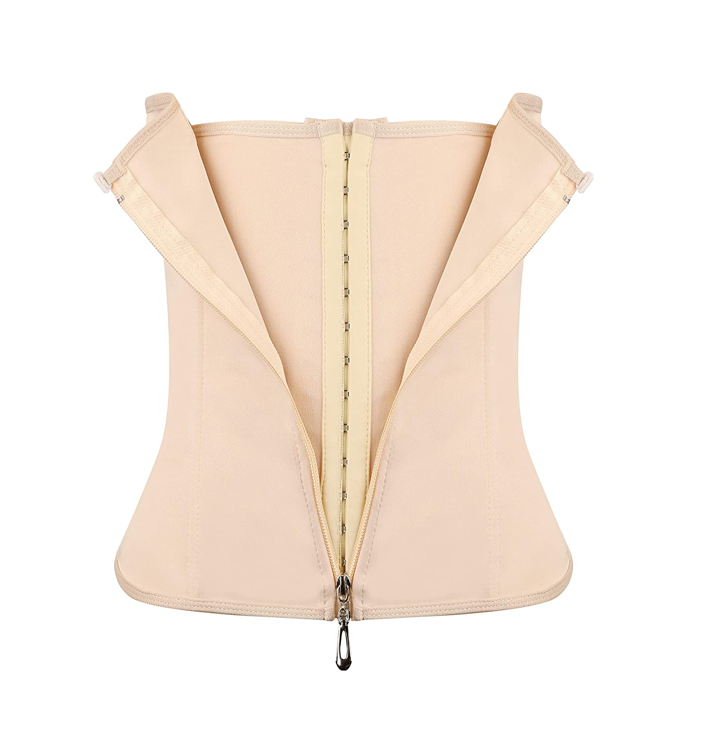 Akivide Women Waist Trainer Corset for Weight Loss Tummy Control Sport Workout Body Shaper