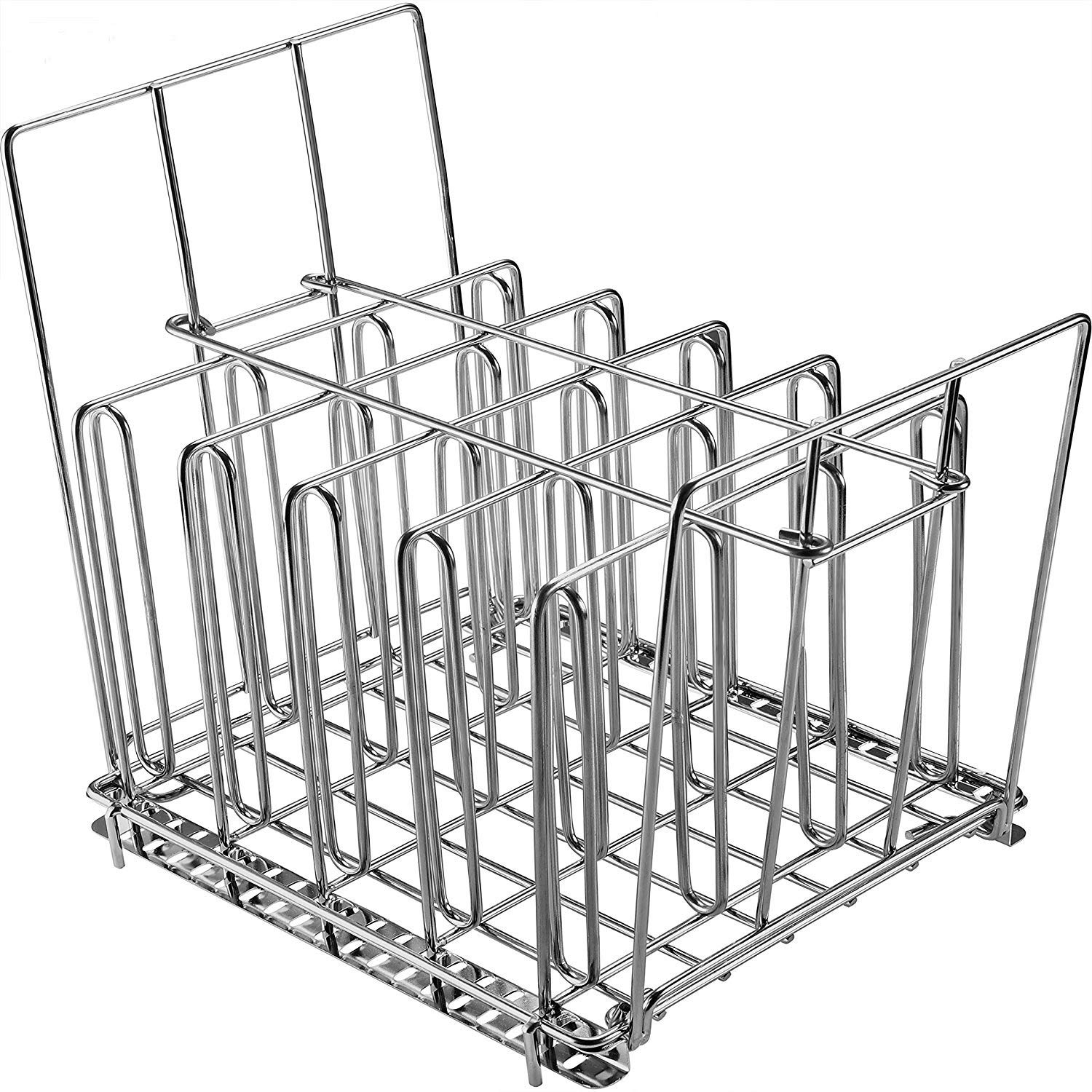 Uarter Sous Vide Rack Stainless Steel for Anova Cookers with Detachable Dividers and 2 No-Float Middle Top Bars, Adjustable, Collapsible Weight-Added Sou Vide Rack for Most 12qt Containers by Uarter
