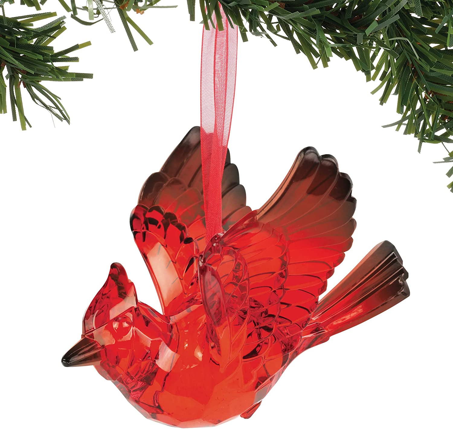Department 56 Christmas Basics Cardinal Bird Hanging Ornament 3 125 Inch Red Home Kitchen