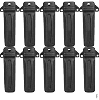 Accessories KBH-10 Belt Clip Compatible for Kenwood Radio TK260G TK-272G TK-388G TK-2100 TK-2118 TK-3206 TK-3207 TK-3302UP TK-3402U TK-2402V 6Pack Battery Chargers