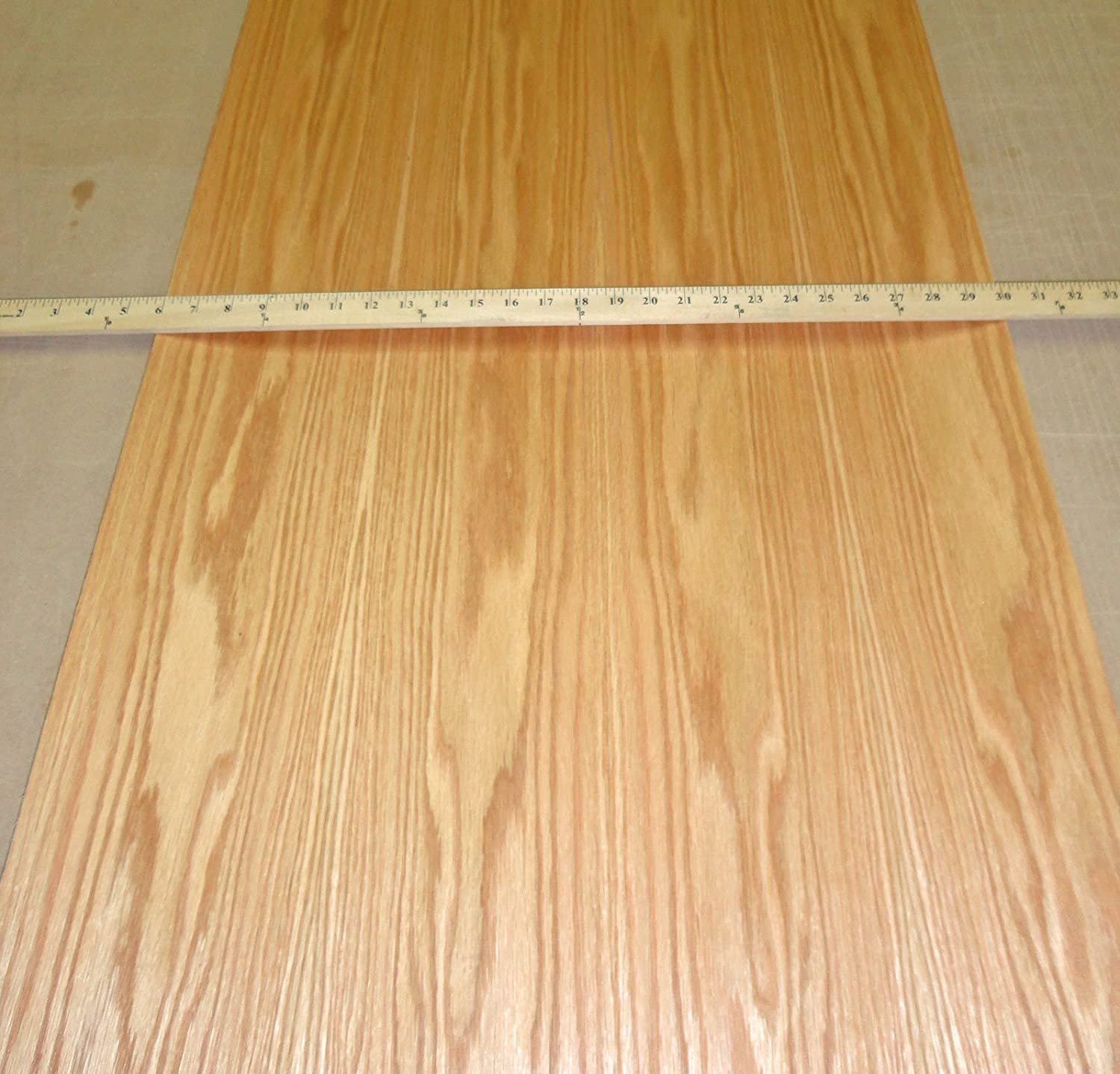 """Red Oak prefinished wood veneer 24"""" x 96"""" with PSA peel and stick"""