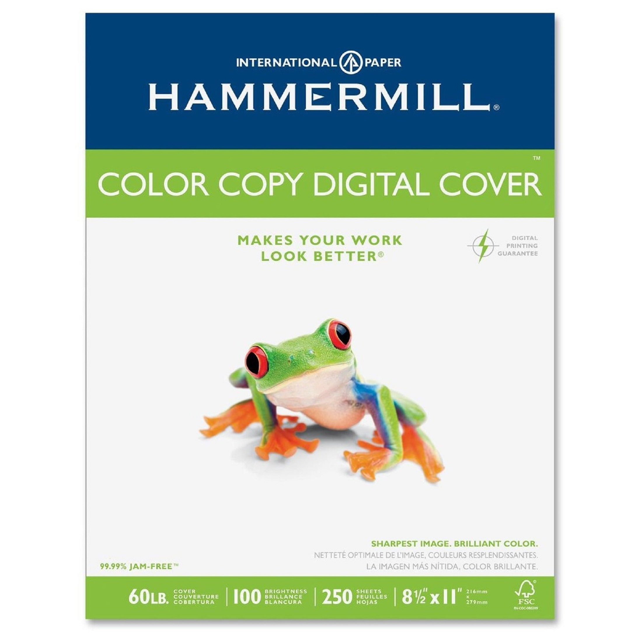 Hammermill Paper, Color Copy Digital Cover, 60 lbs., 8.5 x 11, 100 Bright, 2,500 Sheets / 10 Pack Case (122549C), Made in the USA