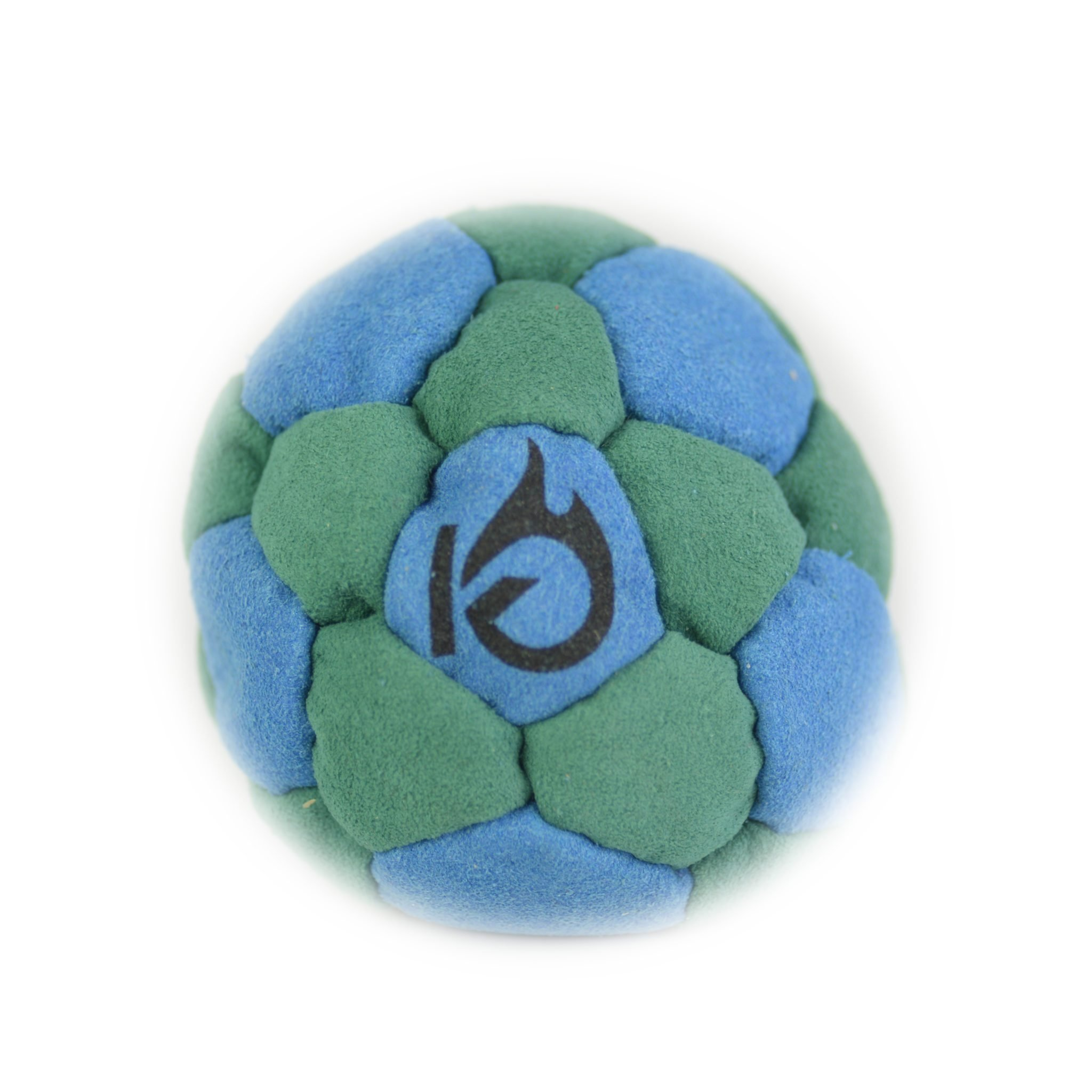 KickFire SuperSacks Aqua Mist Sand Filled Hacky Sack 16 Panel Leather Footbag | BONUS Video Quick Start Tips | Best for Kids, Teens and Adults | Five Super Color Combinations