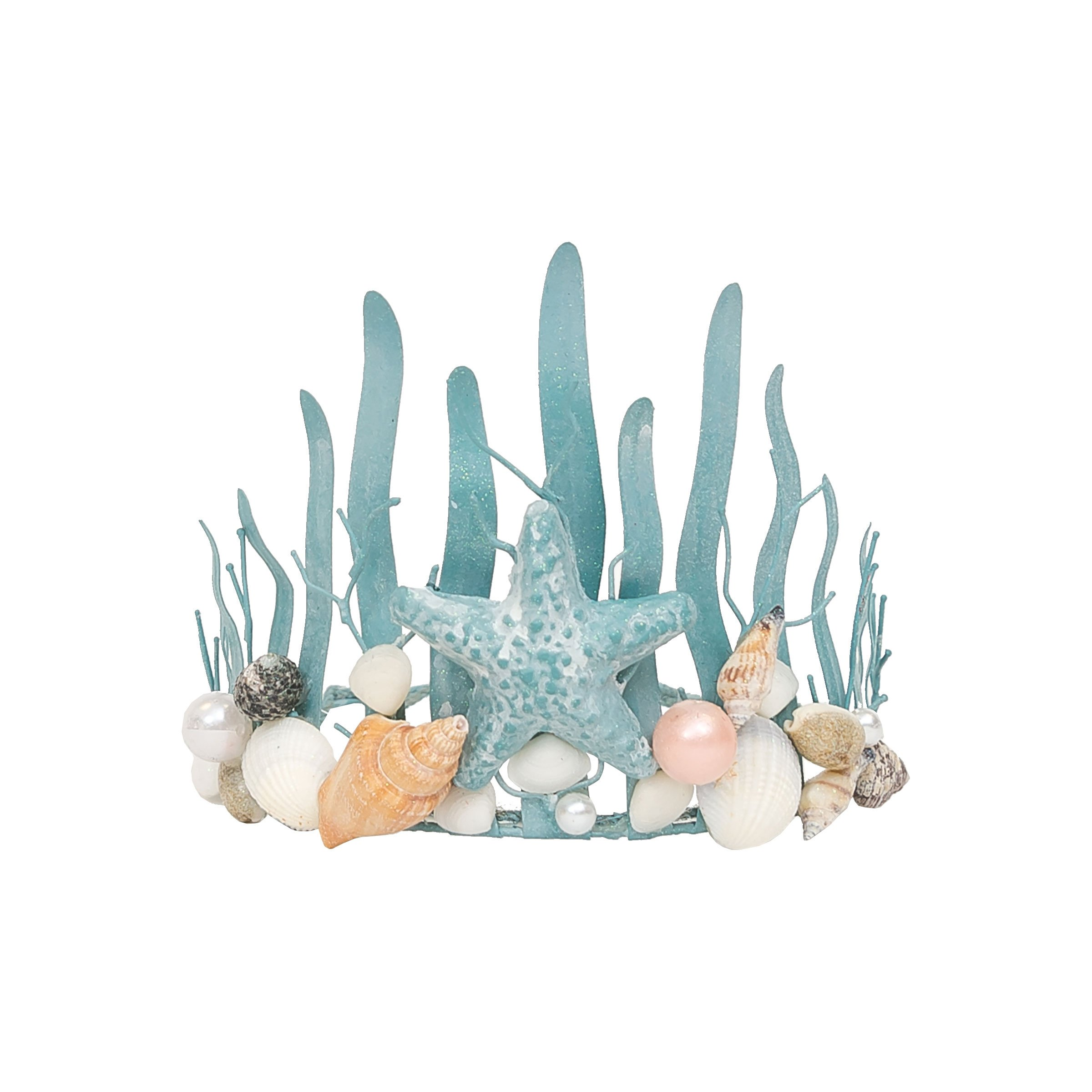 C&F Home Mermaid Coastal Tropical Crown Blue