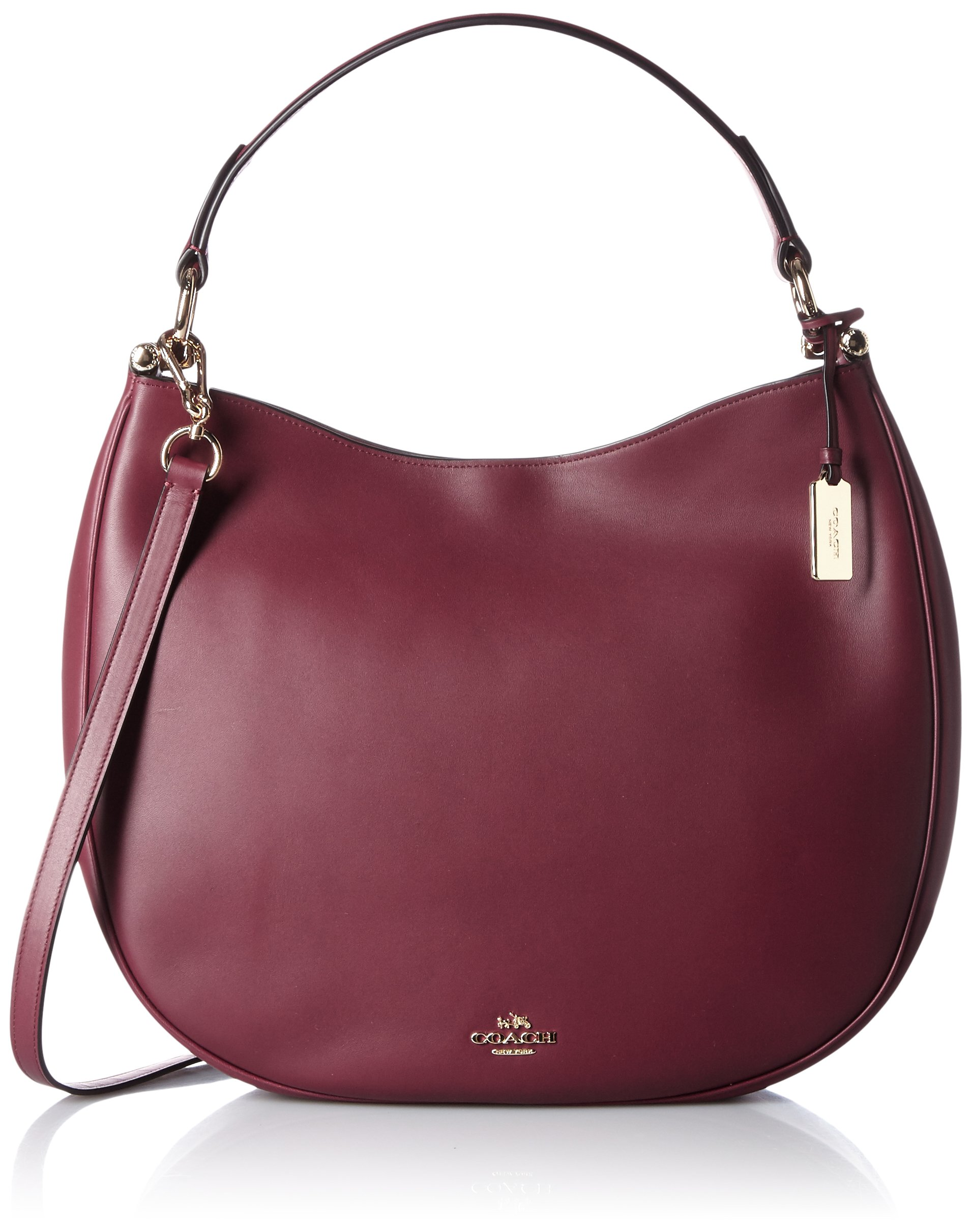 COACH Women's Natural Calf Nomad Hobo LI/Burgundy Hobo