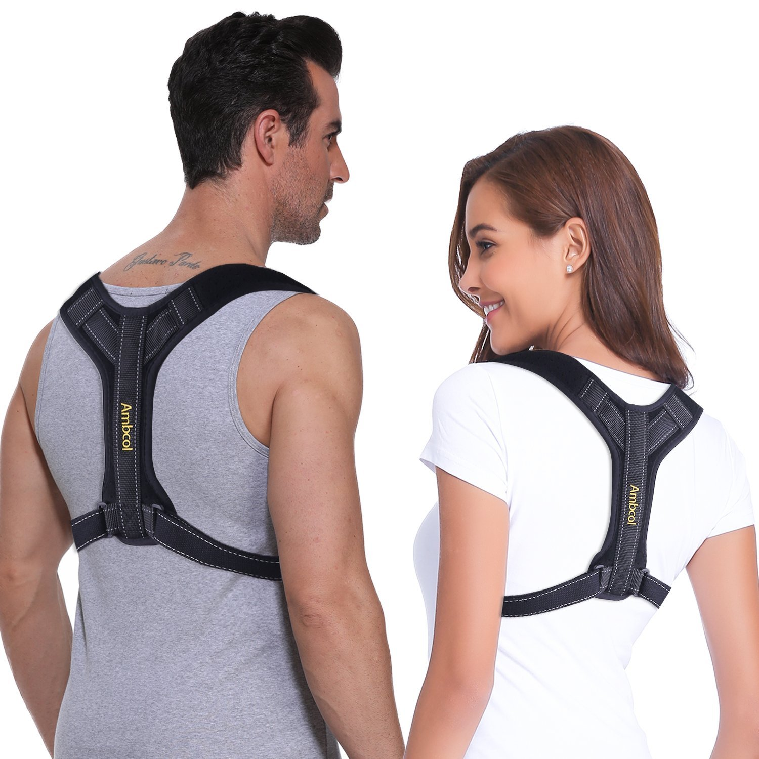 Ambcol Back Posture Corrector for Women and Men, Trains Your Back Muscles to Prevent slouching and Provides Back Pain Relief by Ambcol (Image #1)