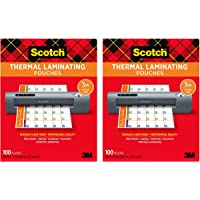 Amazon Price History for:Scotch Thermal Laminating Pouches, 100-Pack, 8.9 x 11.4 inches, Letter Size Sheets (TP3854-100) - 2 Pack