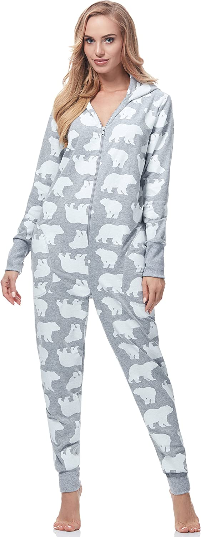 TALLA M. Italian Fashion IF Pijama Entero Mono Mujer IF180017