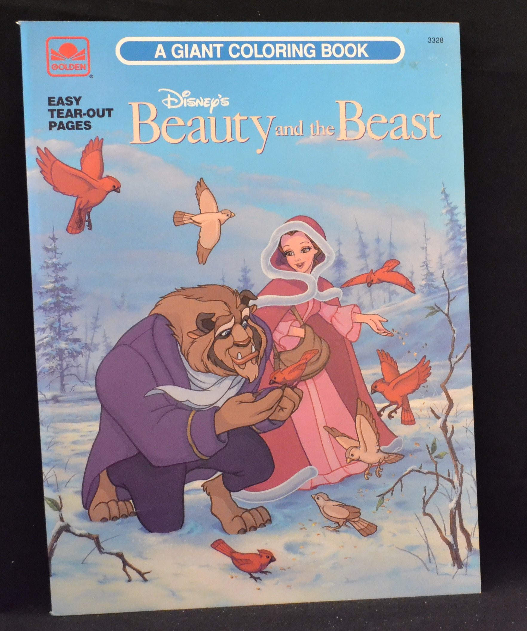 Disney S Beauty And The Beast A Giant Coloring Book 9780307033284